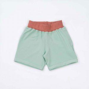 Pantalón corto niño algodón orgánico menta