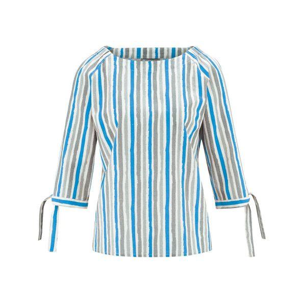 Blusa ecológica media manga azul