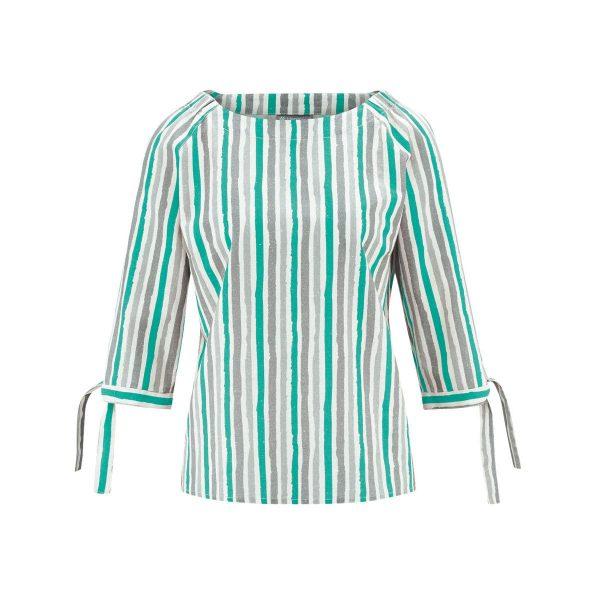 Blusa ecológica media manga verde