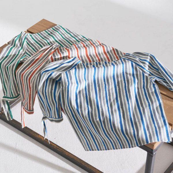 Blusas media manga mujer con rayas de colores