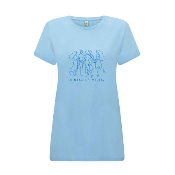 Camiseta feminista azul de algodón orgánico
