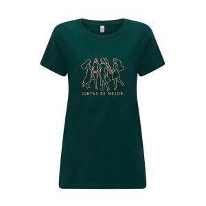 Camiseta feminista verde de algodón orgánico