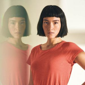 Camiseta manga corta mujer de cáñamo y algodón orgánico