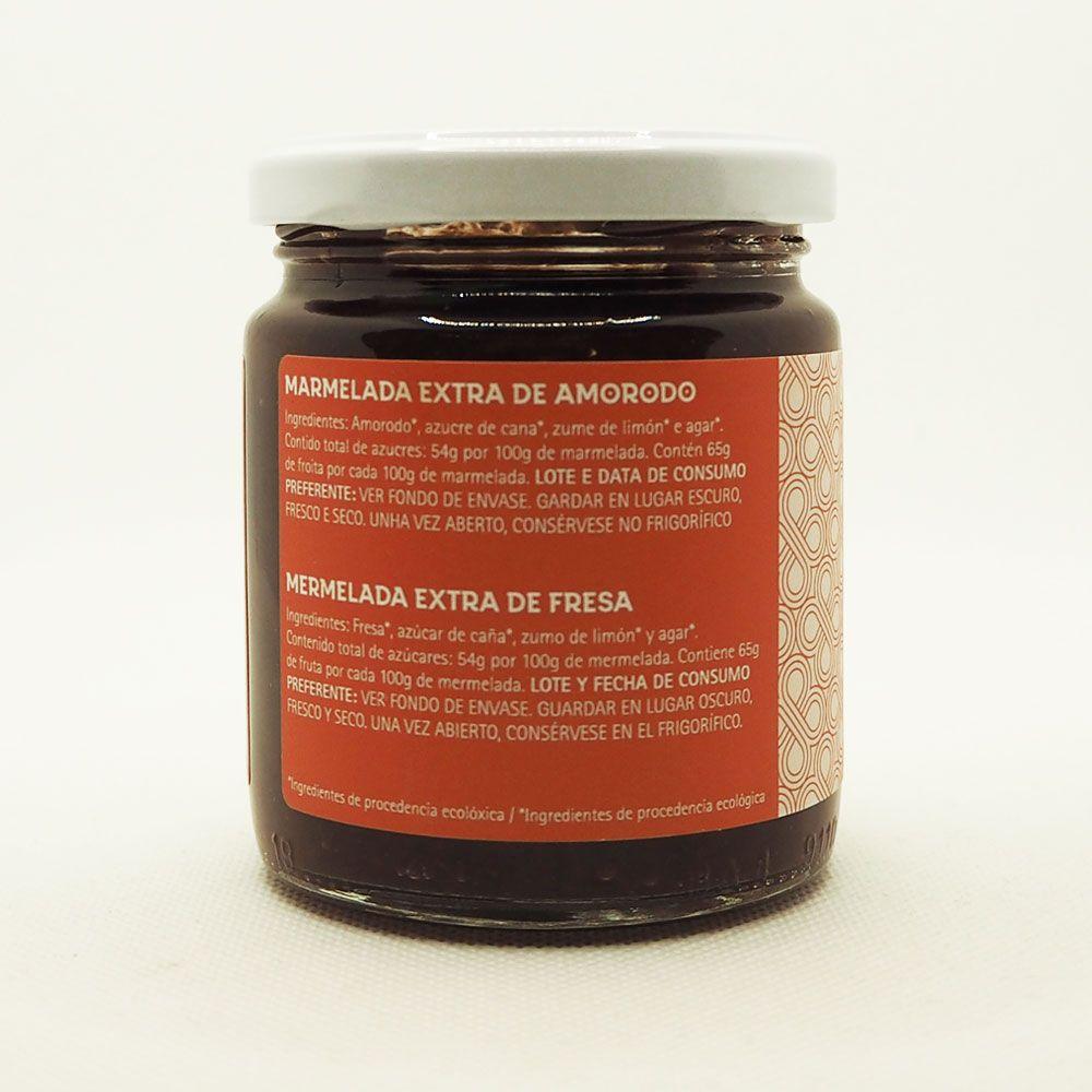 Ingredientes mermelada de fresa ecológica