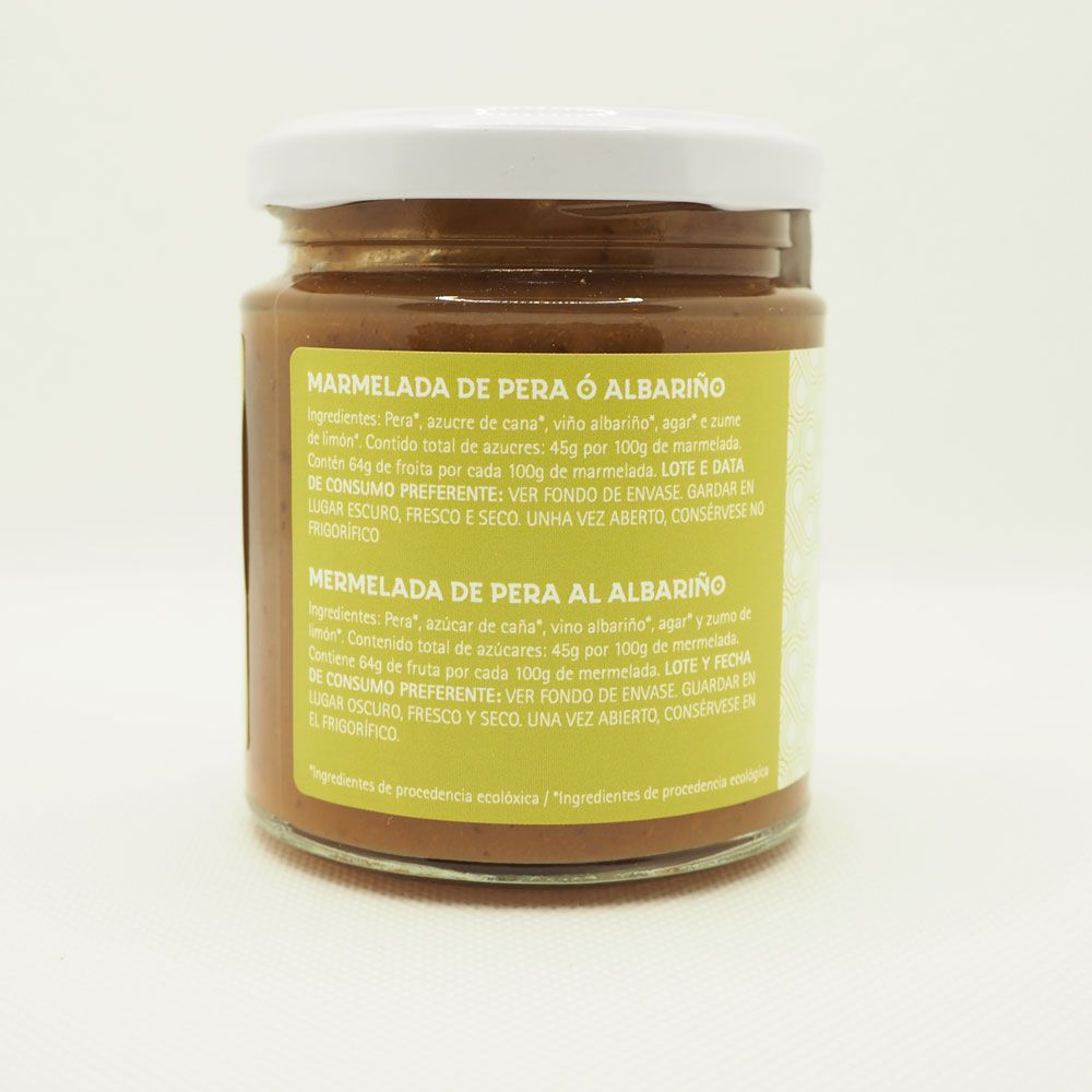 Ingredientes mermelada de pera al albariño
