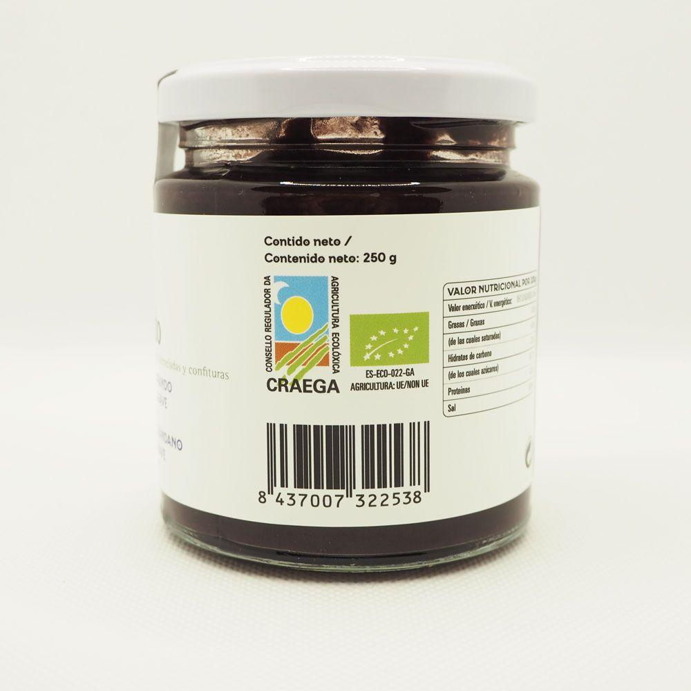 Mermelada de arándano con sello craega de agricultura ecológica