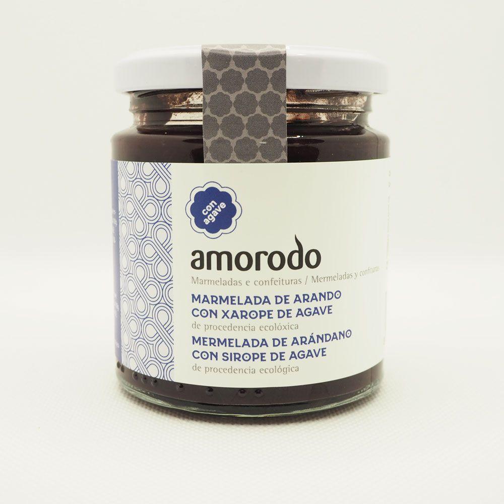 Mermelada de arándano ecológica de Amorodo