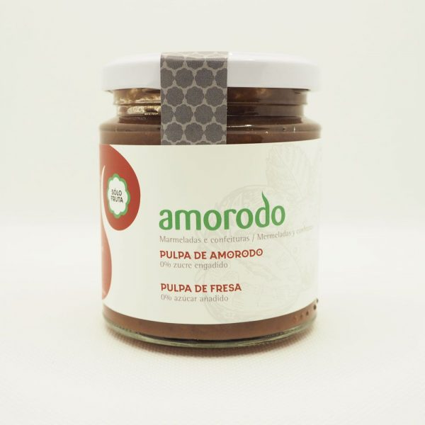 Mermelada de pulpa de fresa ecológica de Amorodo