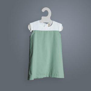 Vestido bicolor corto niña romero