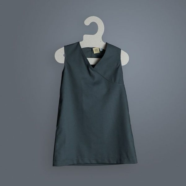 Vestido infantil algodón orgánico sin mangas pizarra
