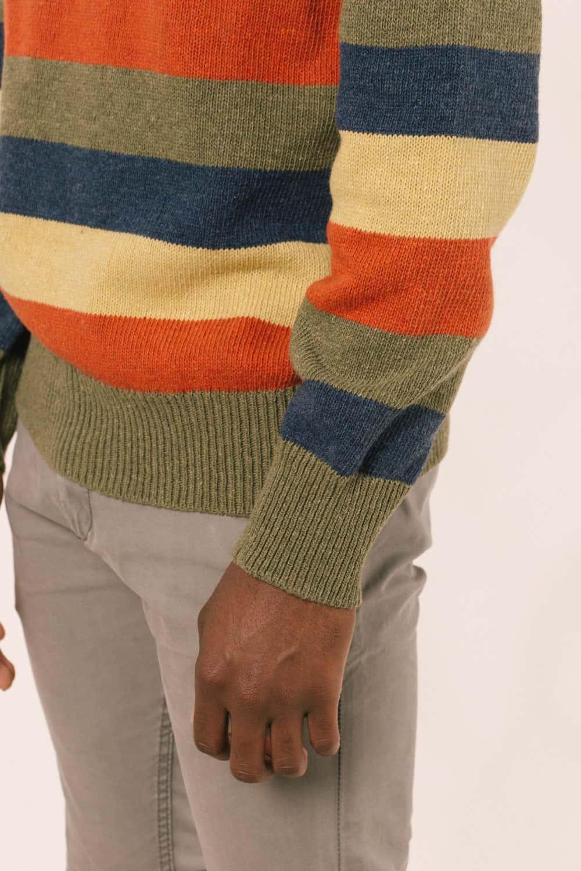 CDetalle manga jersey rayas hombre