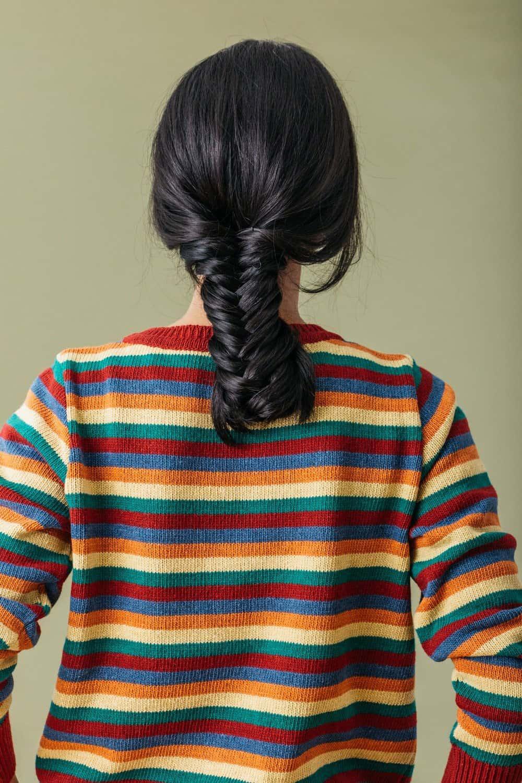 Espalda jersey rayas mujer multicolor