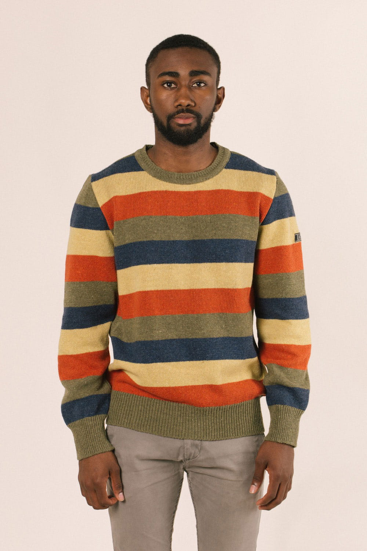 Frente jersey rayas hombre