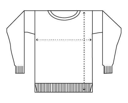 Guía de tallas jersey mujer iaios