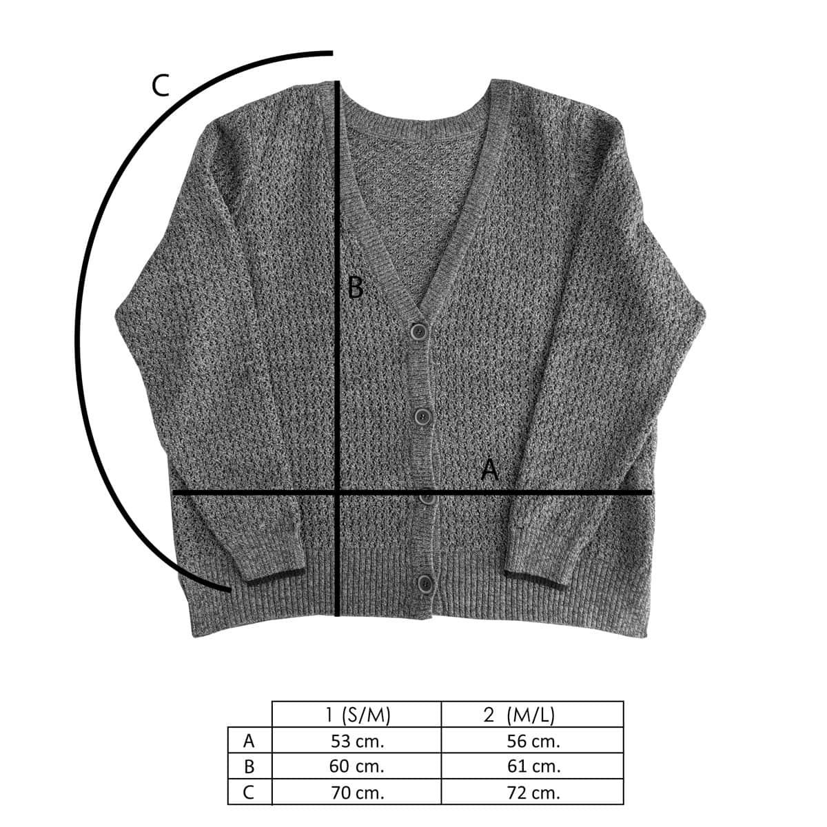 Medidas chaqueta de lana reversible verde