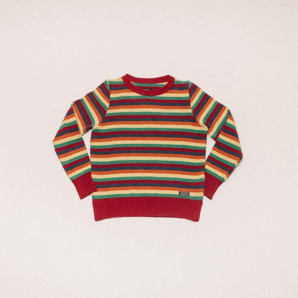 Sweater IAIOS rayas rojo mujer