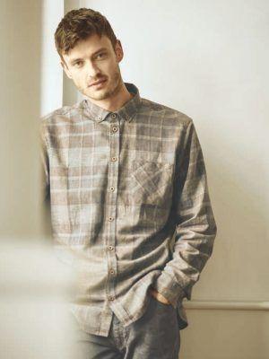 Camisa manga larga hombre a cuadros