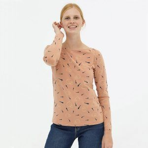 Camiseta básica rosa pastel algodón orgánico