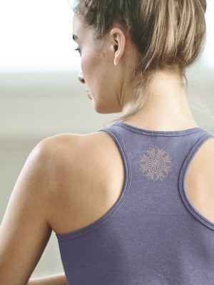 Camiseta yoga con tirantes de algodón orgánico