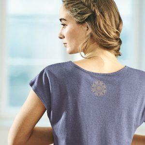Camiseta yoga mujer de cáñamo y algodón orgánico