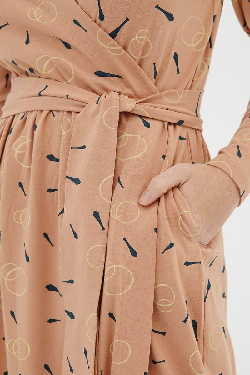 Cinturón vestido algodón orgánico rosa tiralahilacha