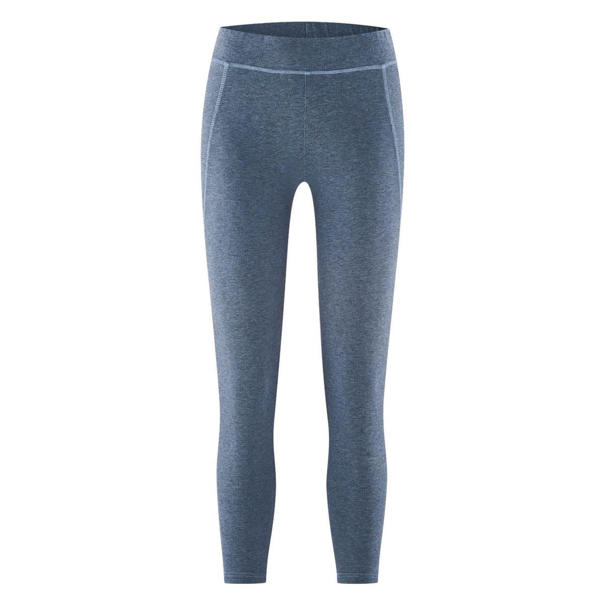 Mallas yoga azul algodón orgánico