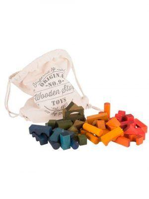 Bloques de colores. Bolsa de 100 piezas