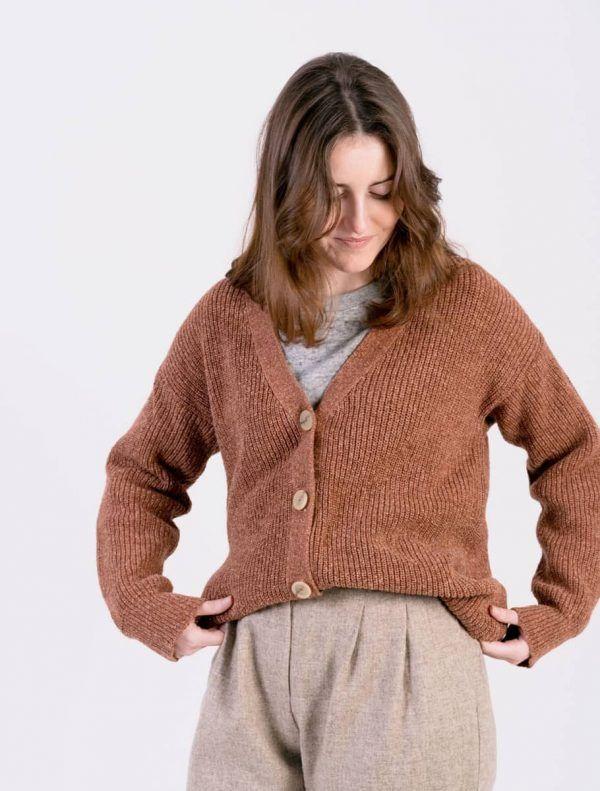 Cardigan de lana mujer con botones
