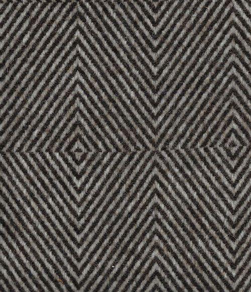Manta de lana castaño