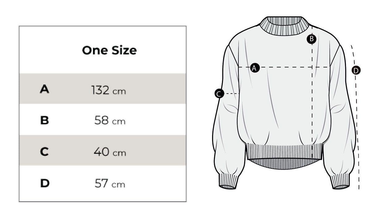 Medidas jersey de punto grueso- e fibras recicladas
