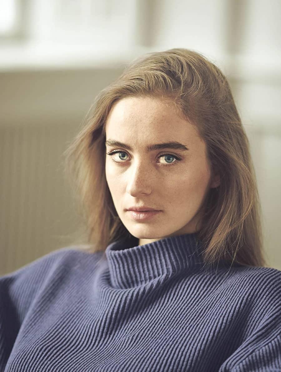 Suéter cuello medio mujer ecológico