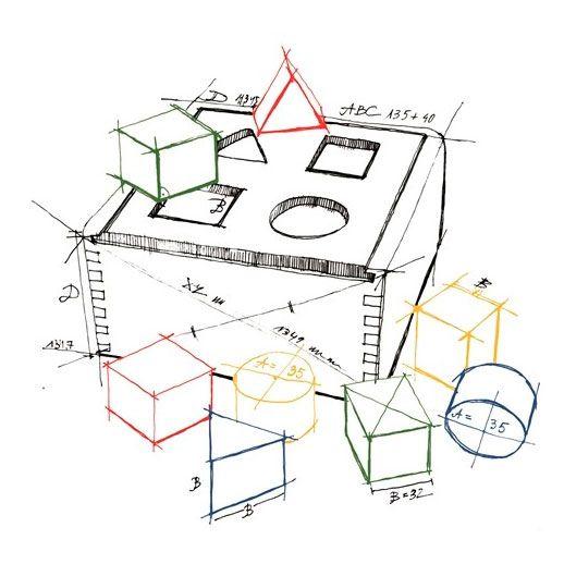 Dimensiones caja juego de encajar piezas