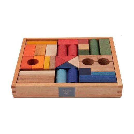 Juego de bloques. Caja de 30 piezas
