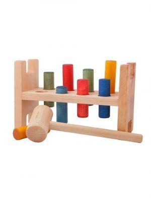 Juego de golpear martillo con cilindros colores