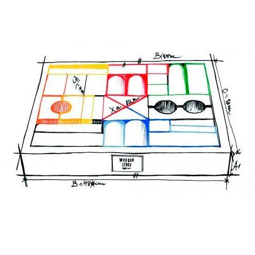 Medias caja de juego de bloques