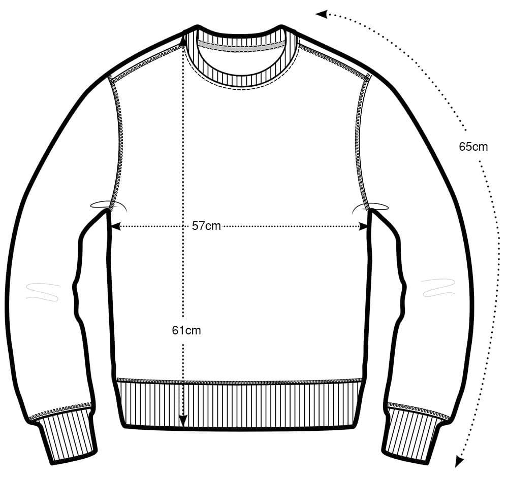 Medidas jersey pata de gallo 100 lana merino