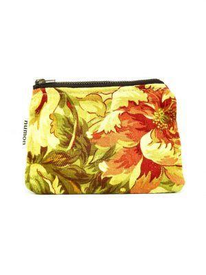 Monedero de tela vintage de flores