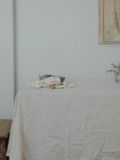 Mantel de tela glaciar con algodón orgánico