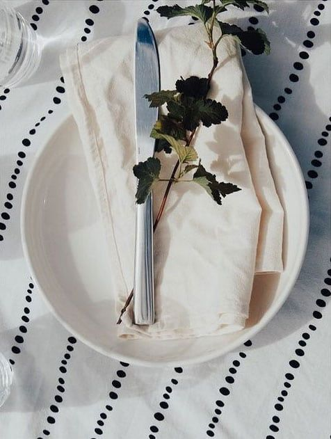 Servilleta de tela color hueso algodón orgánico