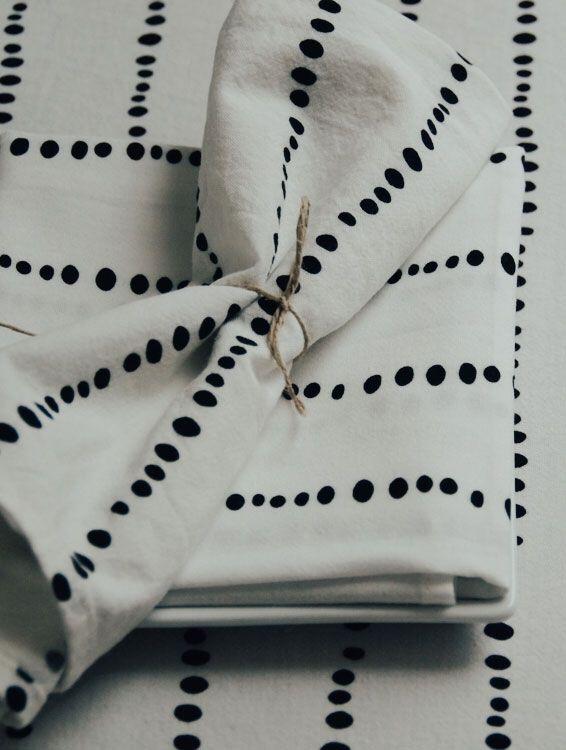 Servilleta tela algodón orgánico estampado liv