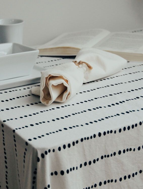 Servilleta tela algodón orgánico hueso