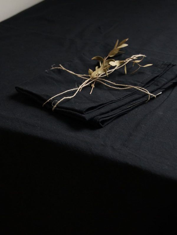 Servilletas tela algodón orgánico carbón