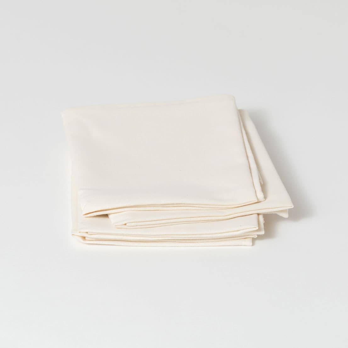 Servilletas tela hueso algodón orgánico