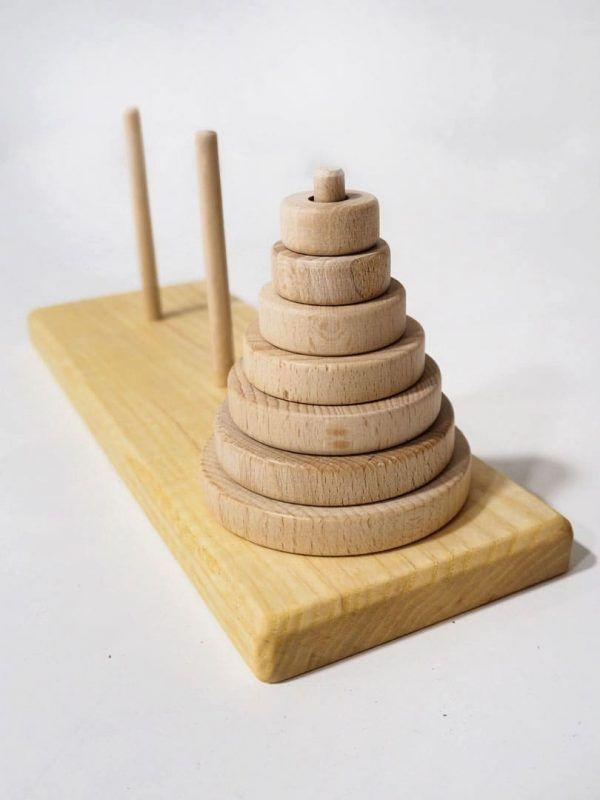 Torre de hanoi madera Ludojoc