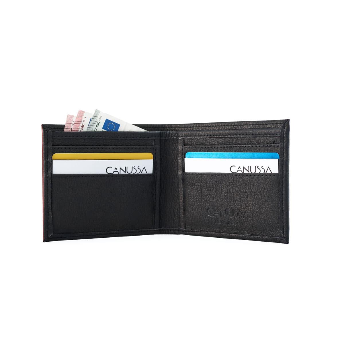 Cartera billetera abierta color negro