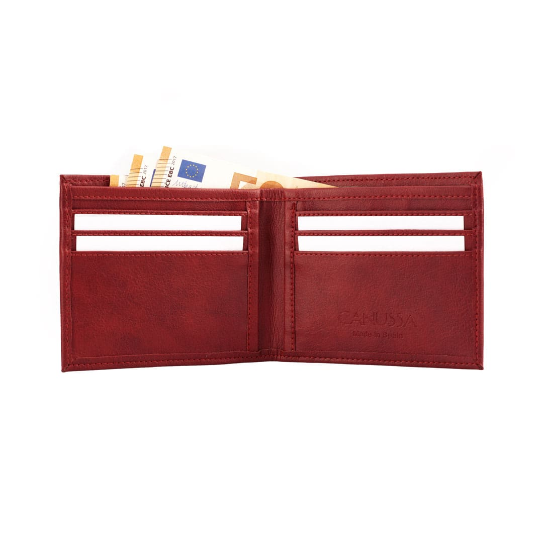 Cartera billetera roja abierta
