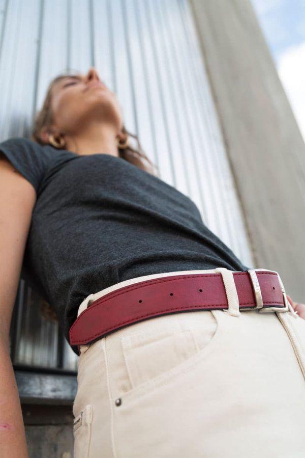 Cinturón rojo mujer
