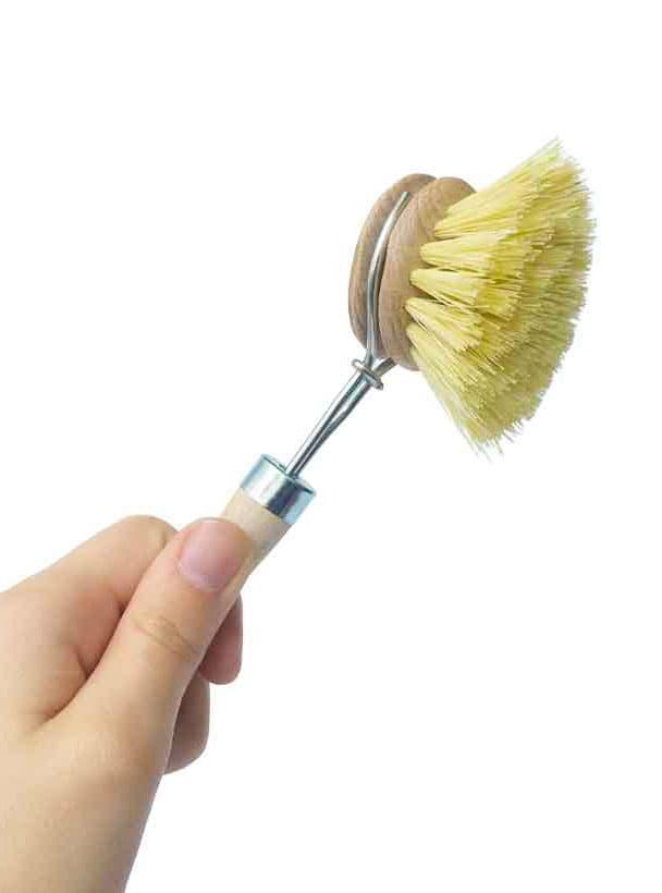 Recambio cepillo madera cerdas vegetales compostable