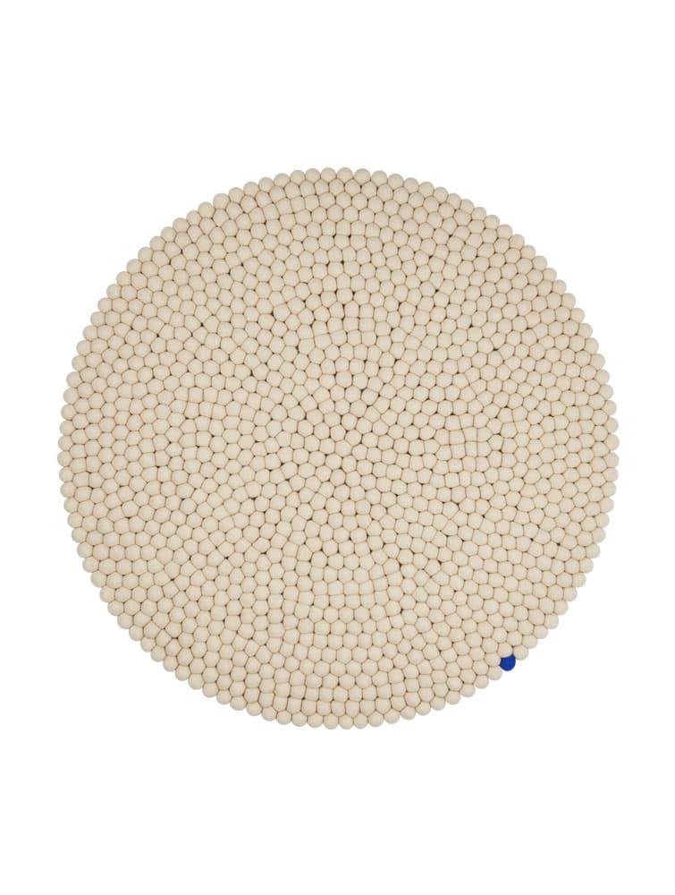 Alfombra circular color beige