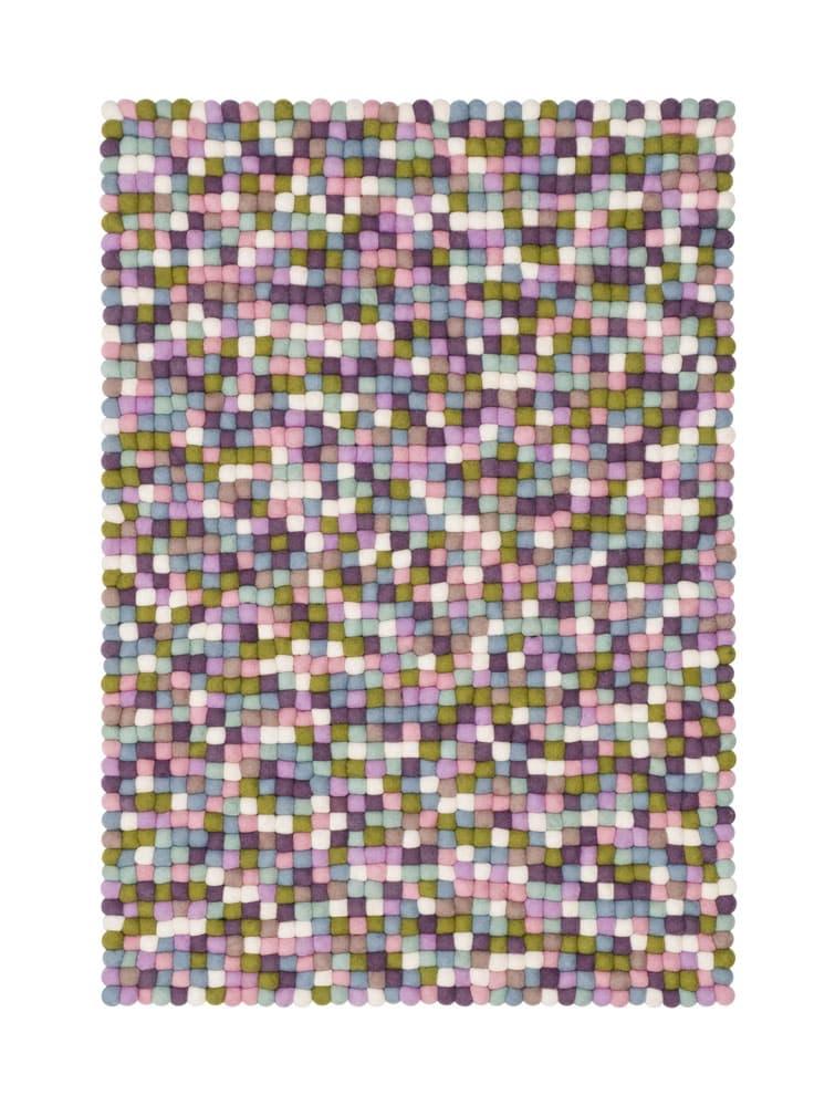 Alfombra colores rectangular colores pastel pequeña